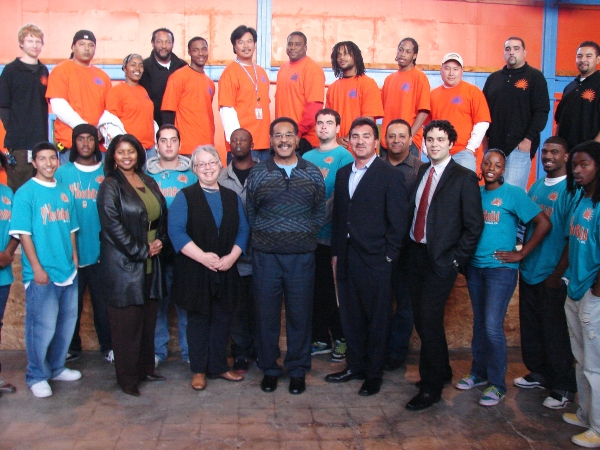 Picture of RichmondBUILD participants with the Mayor and Congressman Cleaver
