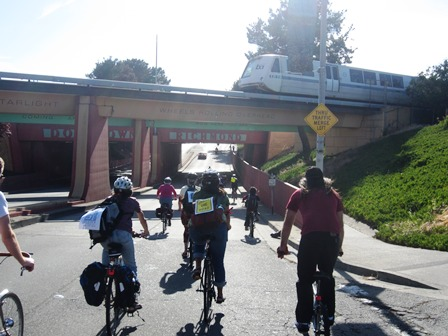 biking with bart overhead