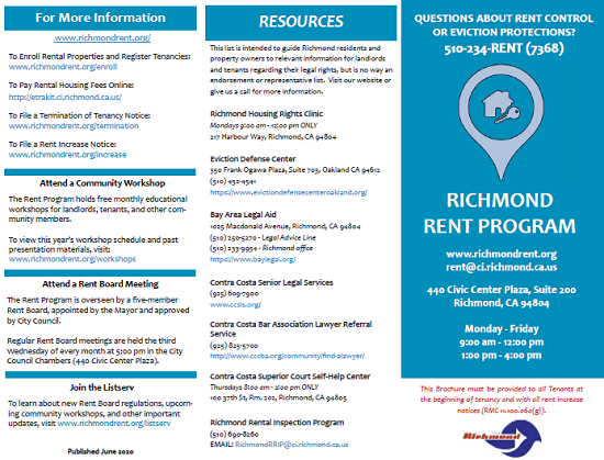 Rent Program info brochure FINAL