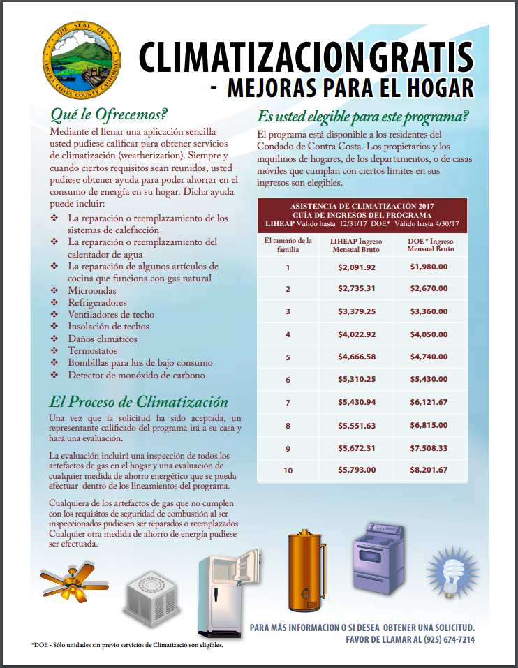 Weatherization Program Spanish
