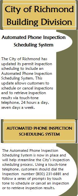 Automated Phone Inspection Scheduling System Flyer