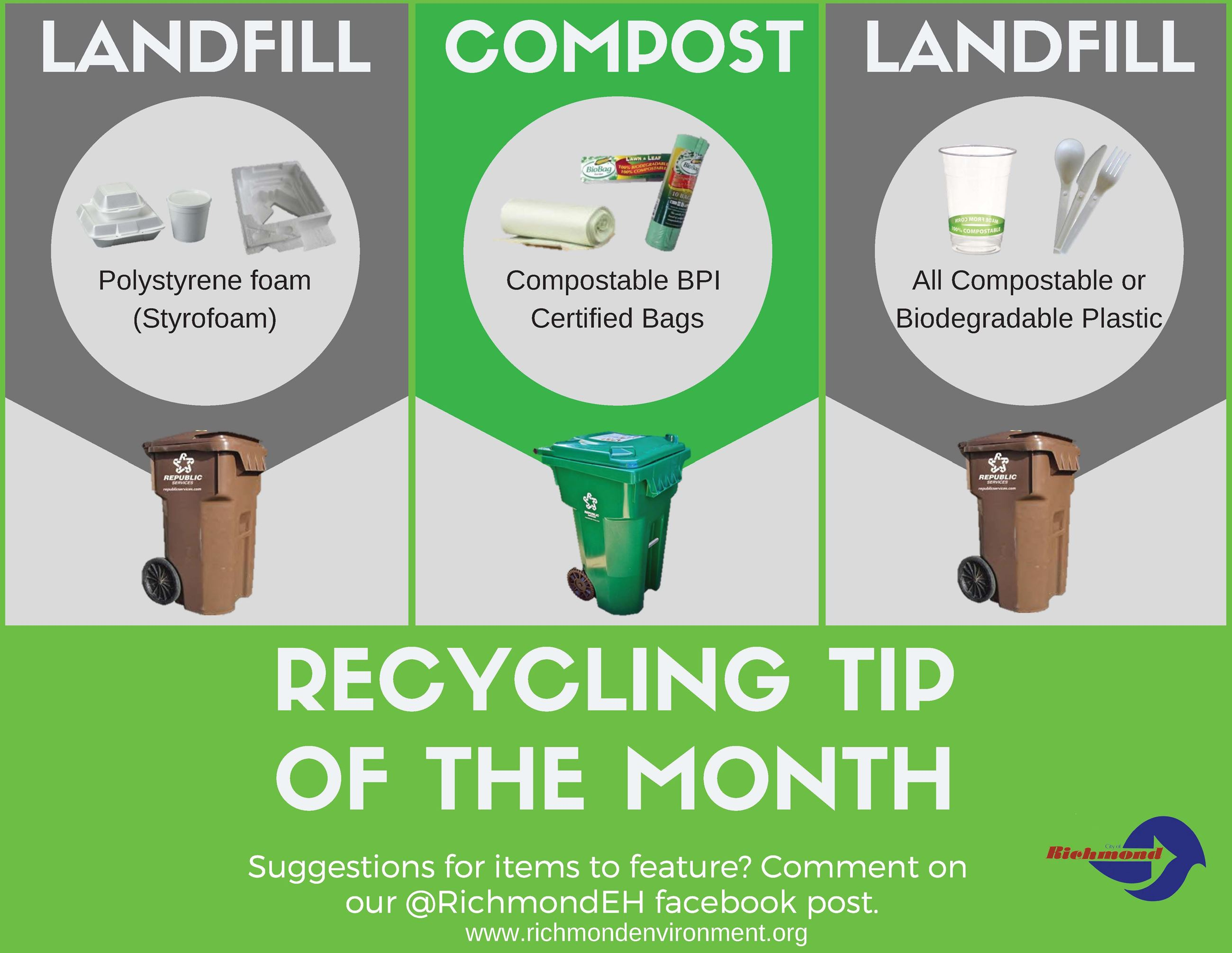 May- Recycling Tip of the Month