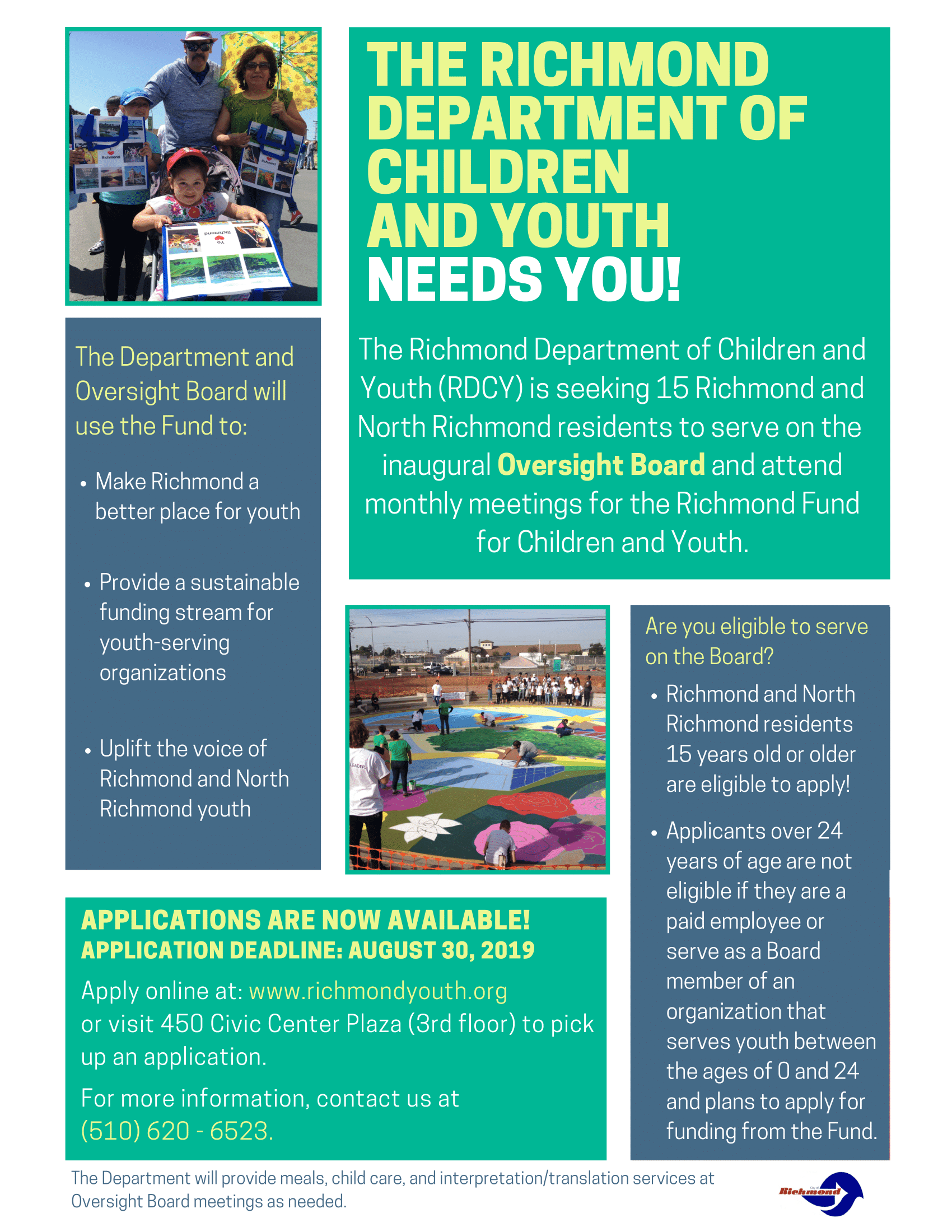 Richmond Department of Children and Youth Flyer