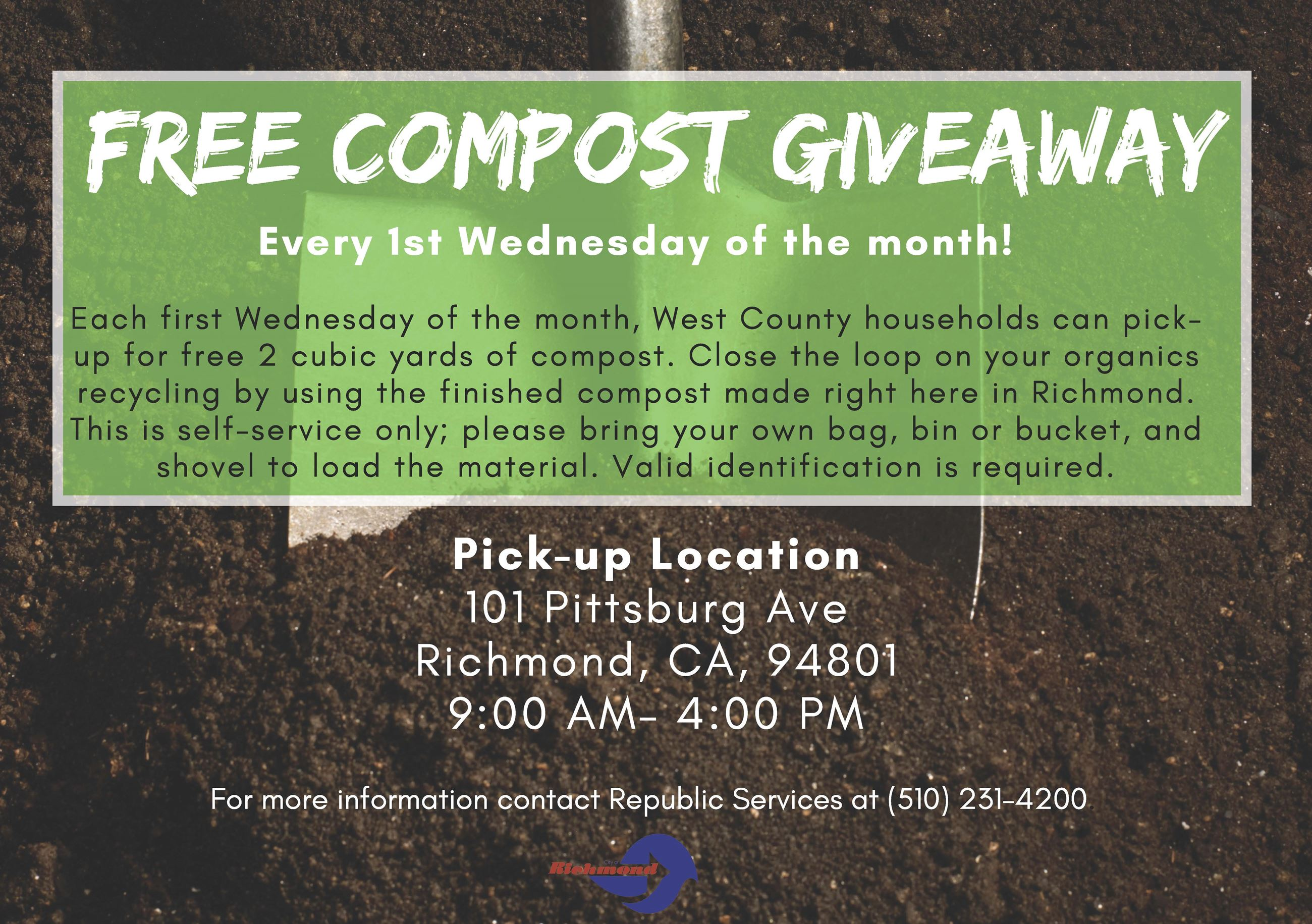 Free Compost Giveaway 1st wed 2019
