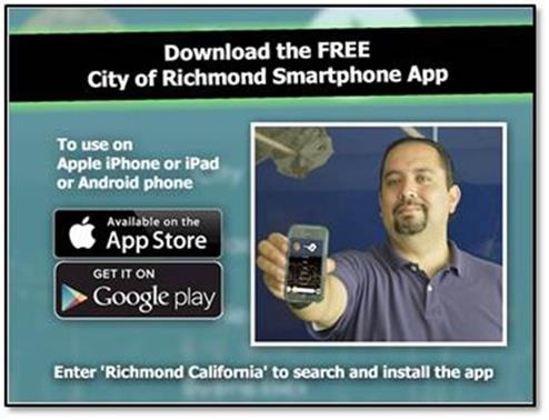 Free Richmond Phone App Postcard Ad