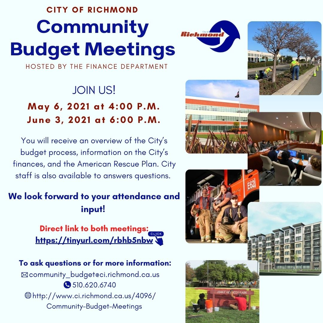 City of Richmond Community Budget Meetings Flyer (English)