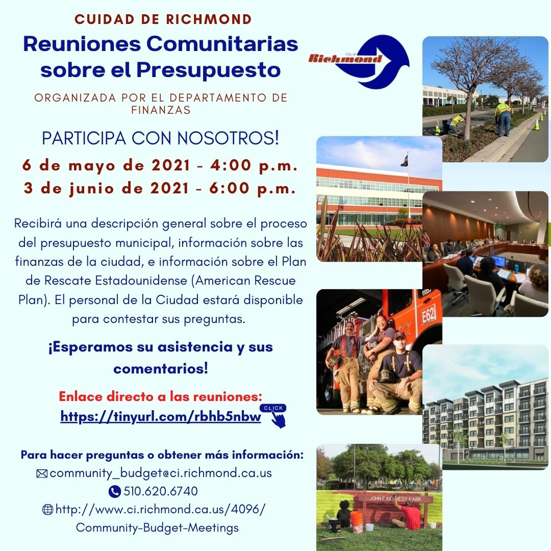 City of Richmond Community Budget Meetings Flyer (Spanish)