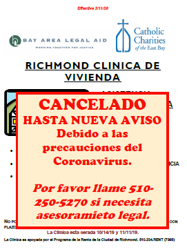 Housing Clinic Cancelled Spanish Opens in new window