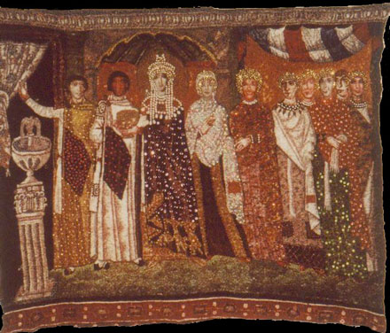 Picture of Empress Ann and Her Court on Cotton Broadcloth