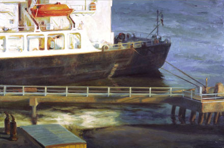 Painting of a Cargo Ship