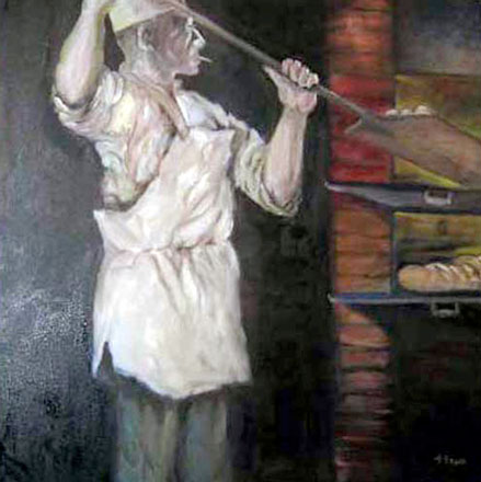 Canvas Photo of a French Baker