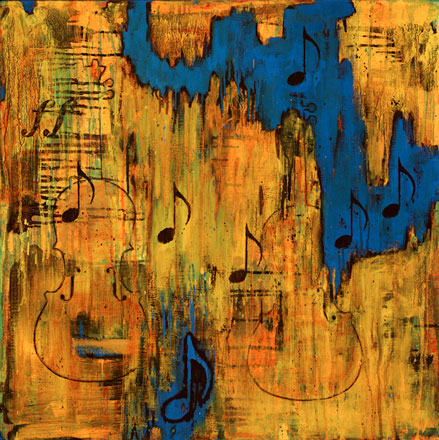 Photo of a Colorful Painting of a Musical Note